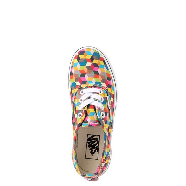 alternate view Vans Authentic 3D Checkerboard Skate Shoe - Little Kid - MulticolorALT2