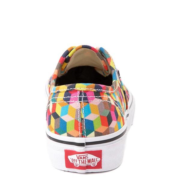 alternate view Vans Authentic 3D Checkerboard Skate Shoe - Little Kid - MulticolorALT4