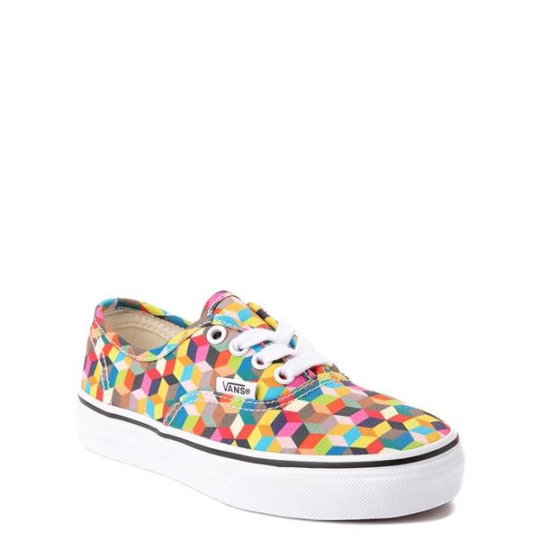 alternate view Vans Authentic 3D Checkerboard Skate Shoe - Little Kid - MulticolorALT5