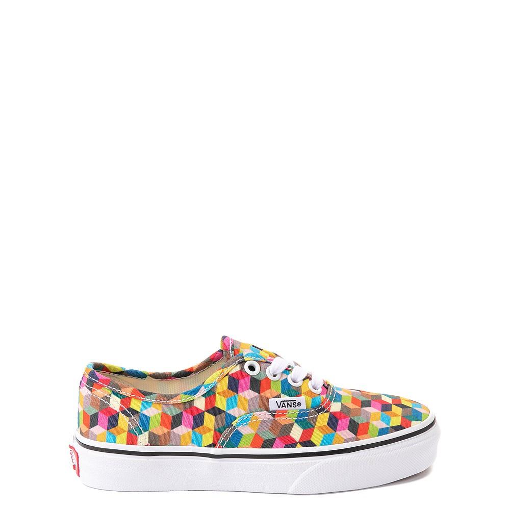 Vans Authentic 3D Checkerboard Skate Shoe - Little Kid - Multicolor