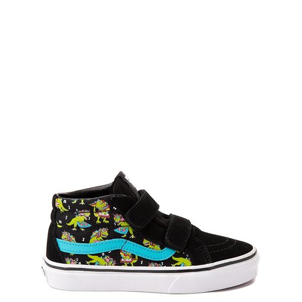 Vans Sk8 Mid Reissue V Uni Rex Glow Skate Shoe - Little Kid - Black / Blue Atoll