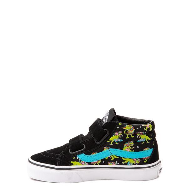 alternate view Vans Sk8 Mid Reissue V Uni Rex Glow Skate Shoe - Little Kid - Black / Blue AtollALT1B