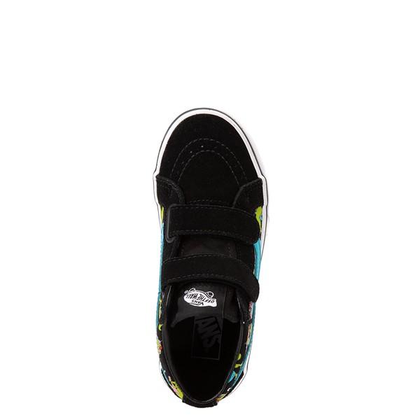 alternate view Vans Sk8 Mid Reissue V Uni Rex Glow Skate Shoe - Little Kid - Black / Blue AtollALT2