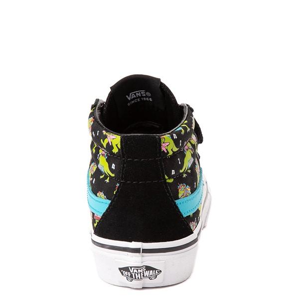 alternate view Vans Sk8 Mid Reissue V Uni Rex Glow Skate Shoe - Little Kid - Black / Blue AtollALT4