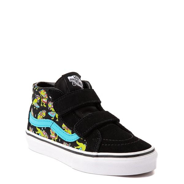 alternate view Vans Sk8 Mid Reissue V Uni Rex Glow Skate Shoe - Little Kid - Black / Blue AtollALT5