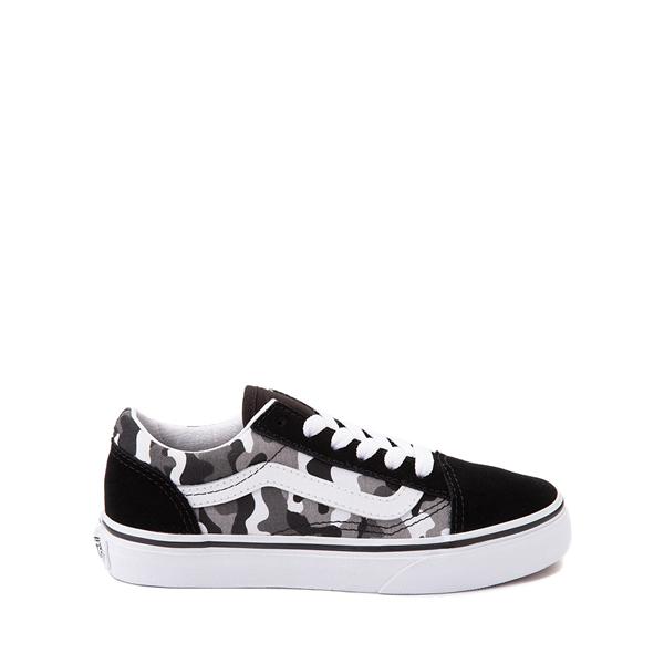 Main view of Vans Old Skool Skate Shoe - Little Kid - Black / White Camo