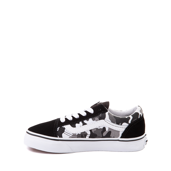 alternate view Vans Old Skool Skate Shoe - Little Kid - Black / White CamoALT1