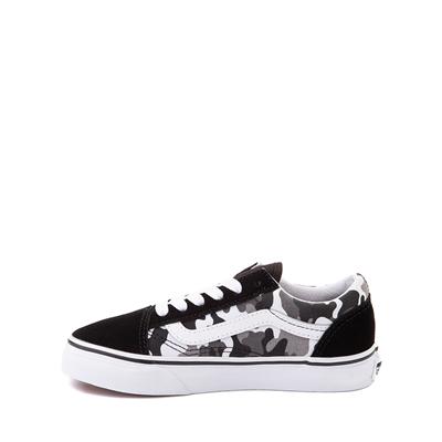 Alternate view of Vans Old Skool Skate Shoe - Little Kid - Black / White Camo