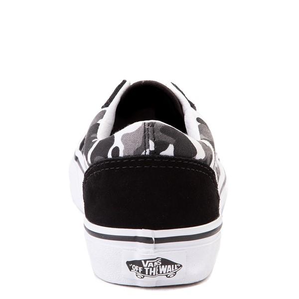 alternate view Vans Old Skool Skate Shoe - Big Kid - Black / White CamoALT4