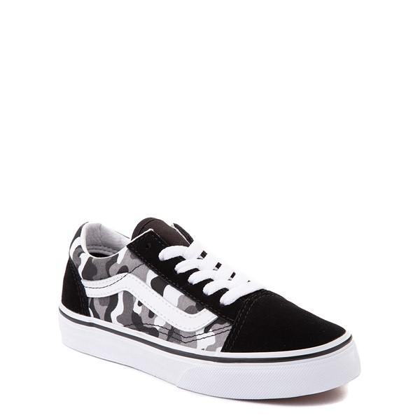 alternate view Vans Old Skool Skate Shoe - Big Kid - Black / White CamoALT5