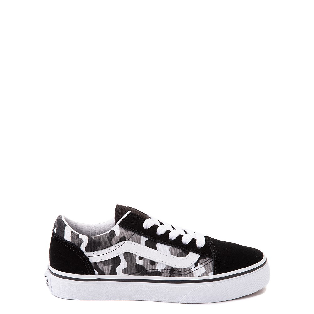 Vans Old Skool Skate Shoe - Big Kid - Black / White Camo