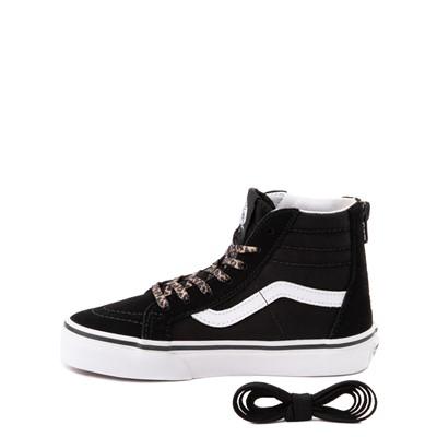 Alternate view of Vans Sk8 Hi Zip Leopard Heart Skate Shoe - Little Kid - Black