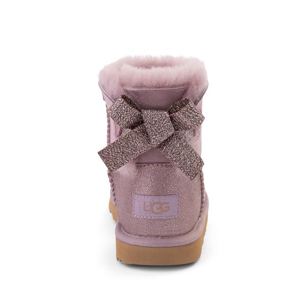 alternate view UGG® Mini Bailey Bow Glitz Boot - Little Kid / Big Kid - ShadowALT4