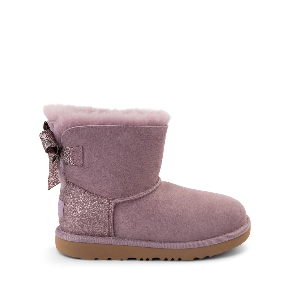 UGG® Mini Bailey Bow Glitz Boot - Little Kid / Big Kid - Shadow