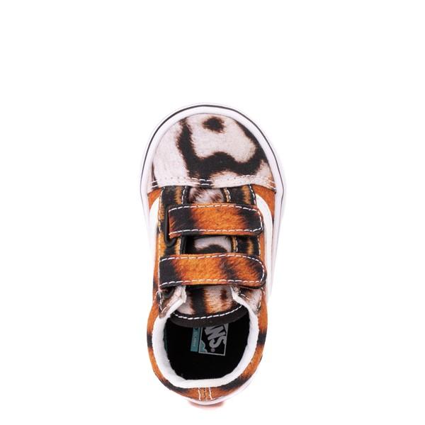 alternate view Vans x Project CAT Old Skool V ComfyCush® Skate Shoe - Baby / Toddler - Multi-TigerALT2