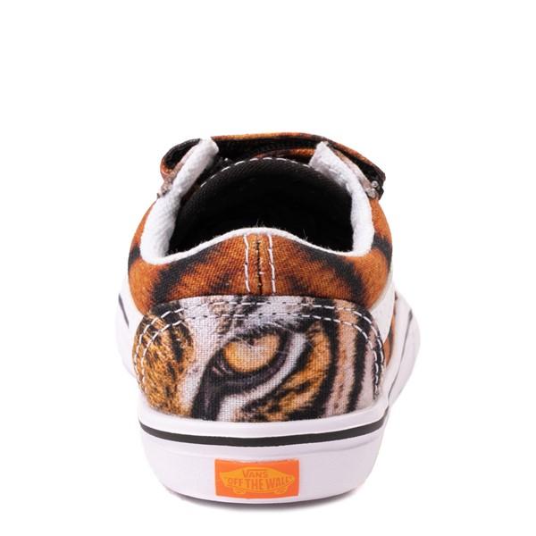 alternate view Vans x Project CAT Old Skool V ComfyCush® Skate Shoe - Baby / Toddler - Multi-TigerALT4