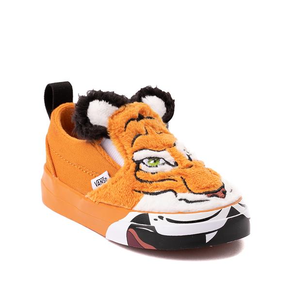 alternate view Vans x Project CAT Slip On V Skate Shoe - Baby / Toddler - Wild TigerALT5