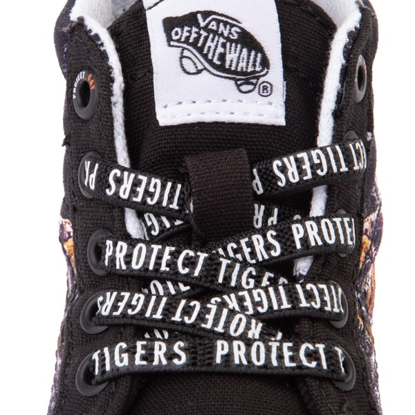 alternate view Vans x Project CAT Sk8 Hi Zip ComfyCush® Skate Shoe - Baby / Toddler - Black / Playing TigersALT2B