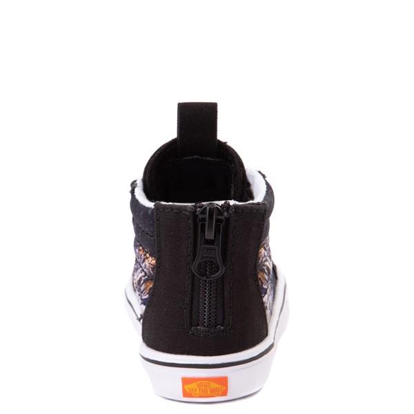 alternate view Vans x Project CAT Sk8 Hi Zip ComfyCush® Skate Shoe - Baby / Toddler - Black / Playing TigersALT4