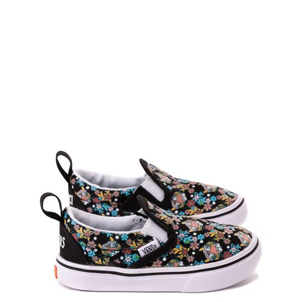 Main view of Vans x Project CAT Slip On V ComfyCush® Skate Shoe - Baby / Toddler - Black / Tiger Floral