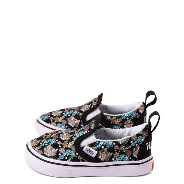 alternate view Vans x Project CAT Slip On V ComfyCush® Skate Shoe - Baby / Toddler - Black / Tiger FloralALT1