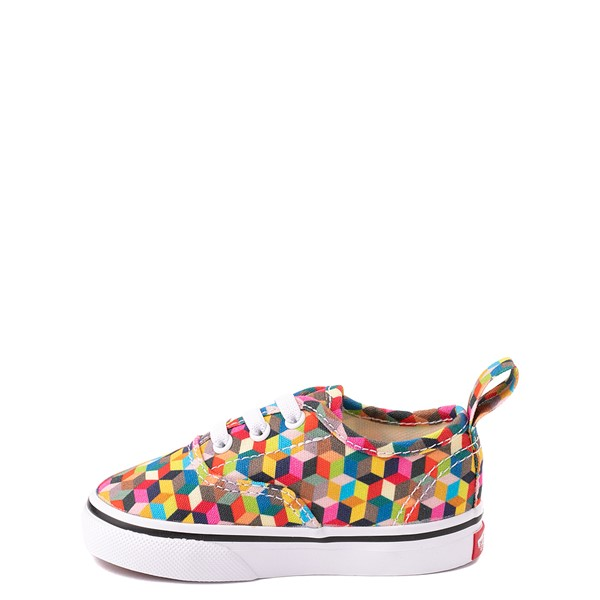 alternate view Vans Authentic 3D Checkerboard Skate Shoe - Baby / Toddler - MulticolorALT1