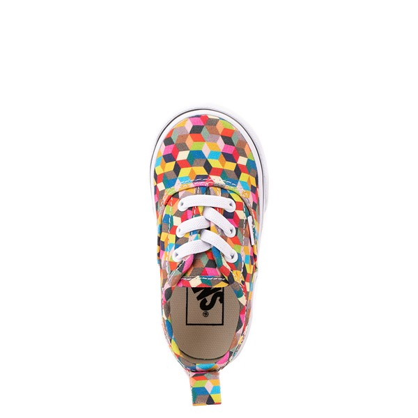 alternate view Vans Authentic 3D Checkerboard Skate Shoe - Baby / Toddler - MulticolorALT2