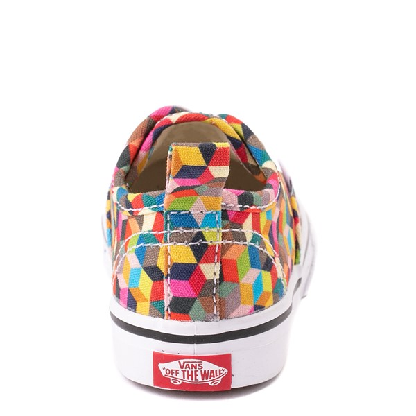 alternate view Vans Authentic 3D Checkerboard Skate Shoe - Baby / Toddler - MulticolorALT4