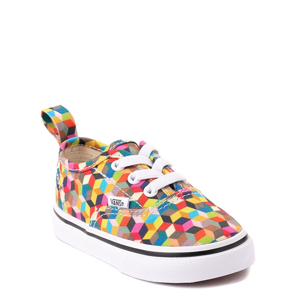 alternate view Vans Authentic 3D Checkerboard Skate Shoe - Baby / Toddler - MulticolorALT5