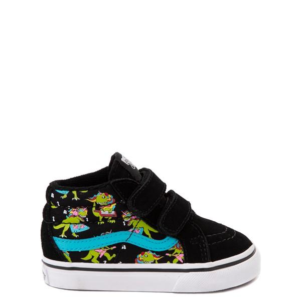 Vans Sk8 Mid Reissue V Uni Rex Glow Skate Shoe - Baby / Toddler - Black / Blue Atoll