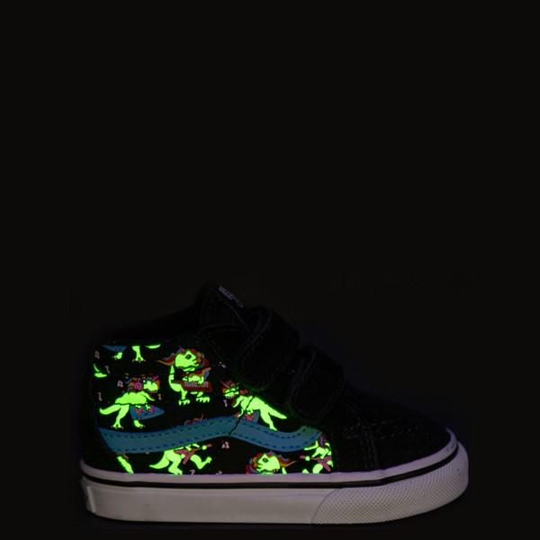 alternate view Vans Sk8 Mid Reissue V Uni Rex Glow Skate Shoe - Baby / Toddler - Black / Blue AtollALT1