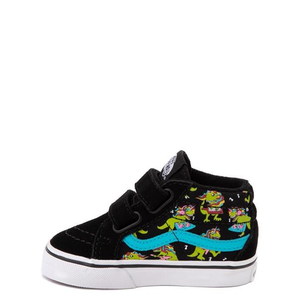 alternate view Vans Sk8 Mid Reissue V Uni Rex Glow Skate Shoe - Baby / Toddler - Black / Blue AtollALT1B