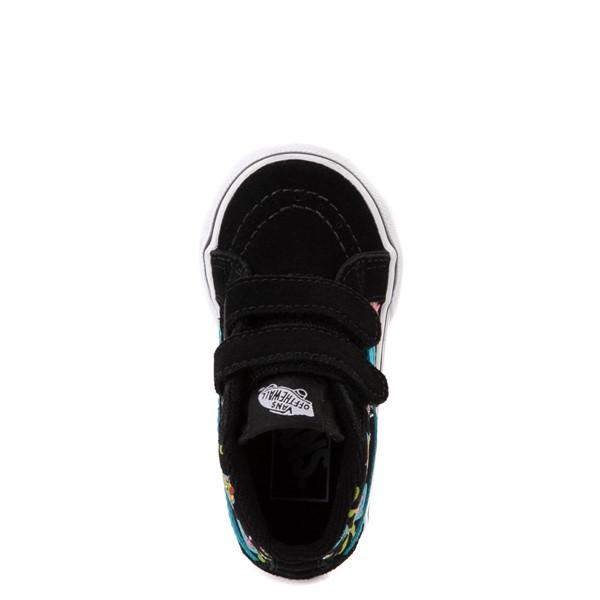 alternate view Vans Sk8 Mid Reissue V Uni Rex Glow Skate Shoe - Baby / Toddler - Black / Blue AtollALT2