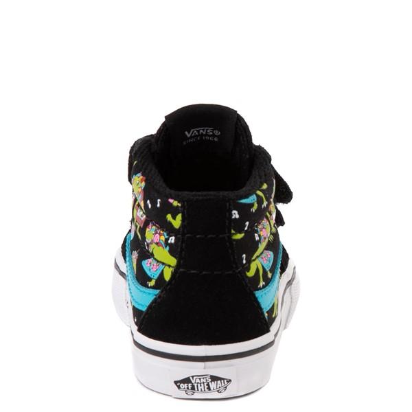 alternate view Vans Sk8 Mid Reissue V Uni Rex Glow Skate Shoe - Baby / Toddler - Black / Blue AtollALT4