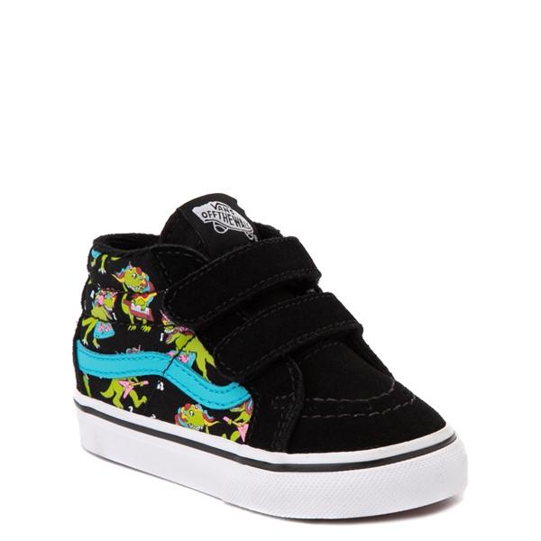 alternate view Vans Sk8 Mid Reissue V Uni Rex Glow Skate Shoe - Baby / Toddler - Black / Blue AtollALT5