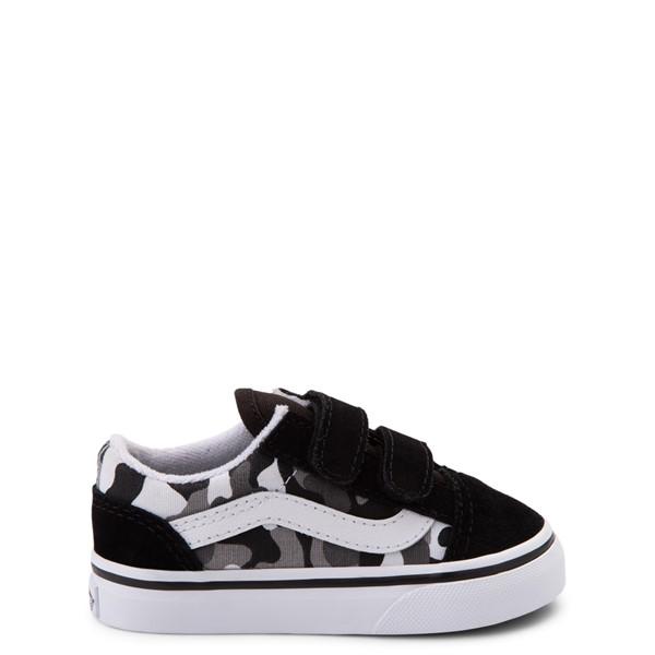 Main view of Vans Old Skool V Skate Shoe - Baby / Toddler - Black / White Camo