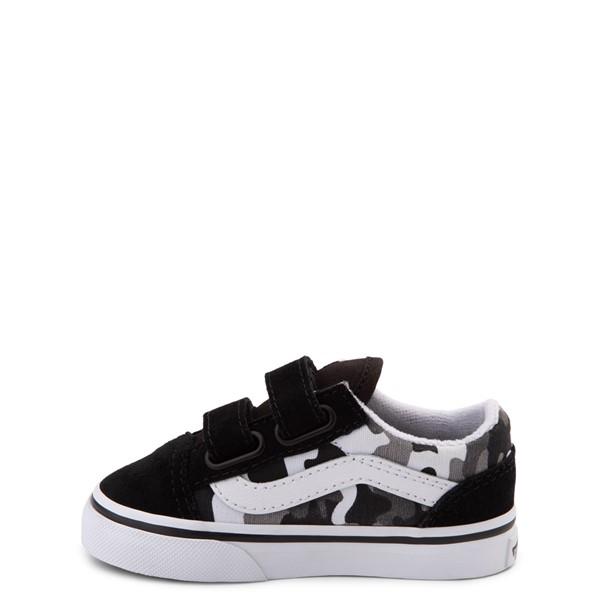 alternate view Vans Old Skool V Skate Shoe - Baby / Toddler - Black / White CamoALT1