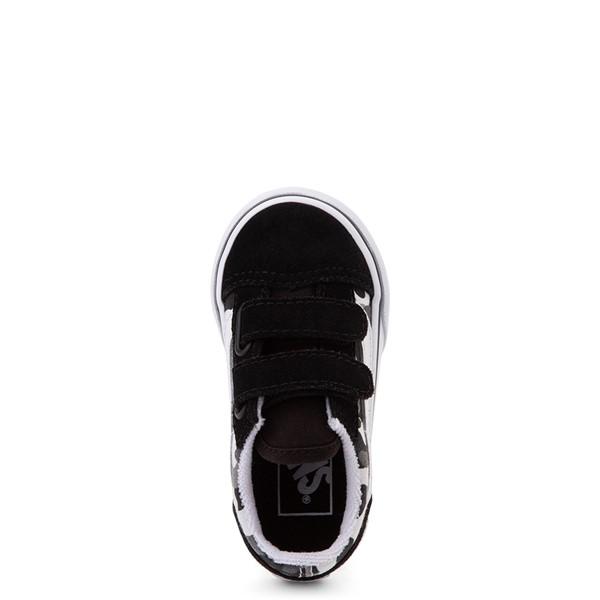 alternate view Vans Old Skool V Skate Shoe - Baby / Toddler - Black / White CamoALT2
