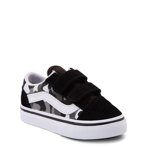 alternate view Vans Old Skool V Skate Shoe - Baby / Toddler - Black / White CamoALT5