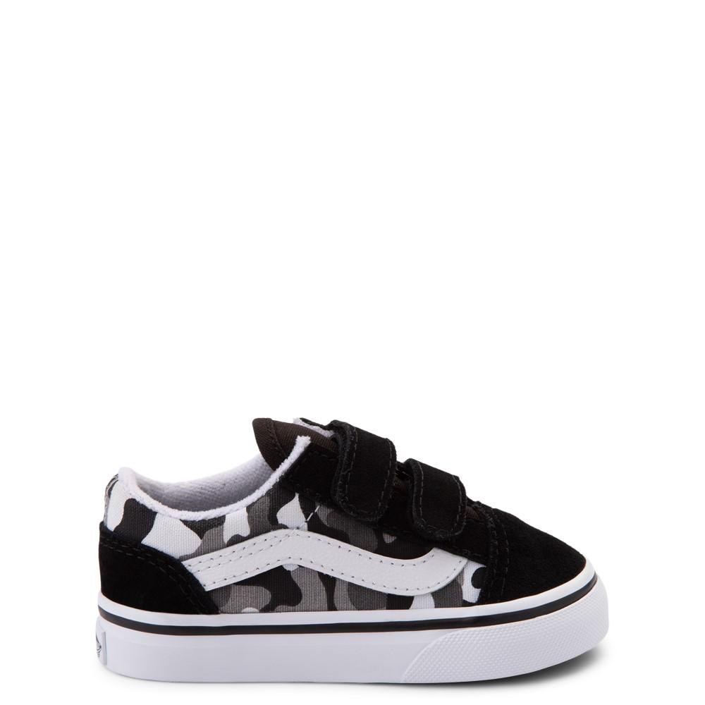 Vans Old Skool V Skate Shoe - Baby / Toddler - Black / White Camo