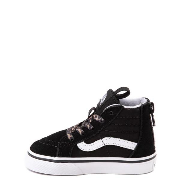 alternate view Vans Sk8 Hi Zip Leopard Heart Skate Shoe - Baby / Toddler - BlackALT1