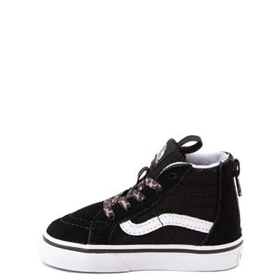 Alternate view of Vans Sk8 Hi Zip Leopard Heart Skate Shoe - Baby / Toddler - Black