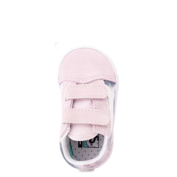 alternate view Vans Old Skool V Cloud Wash ComfyCush® Skate Shoe - Baby / Toddler - Orchid IceALT2