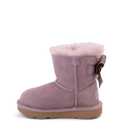 Alternate view of UGG® Mini Bailey Bow Glitz Boot - Toddler / Little Kid - Shadow