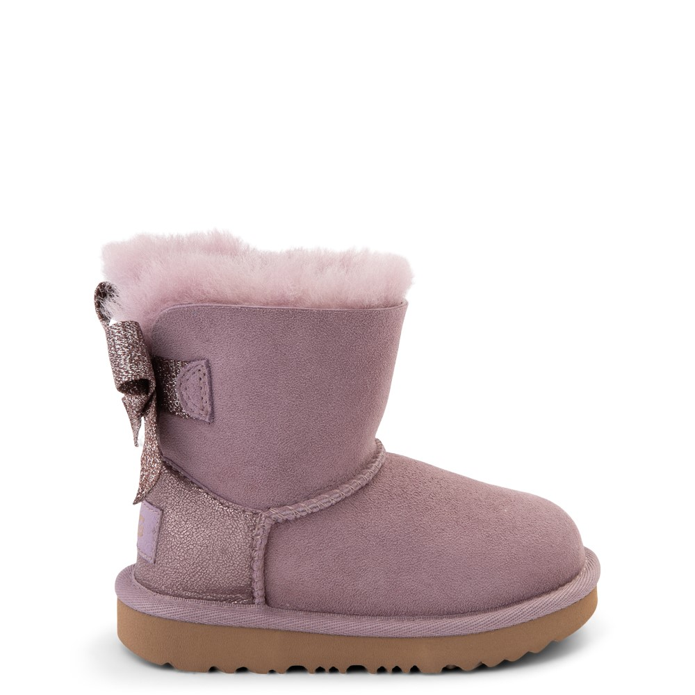 UGG® Mini Bailey Bow Glitz Boot - Toddler / Little Kid - Shadow