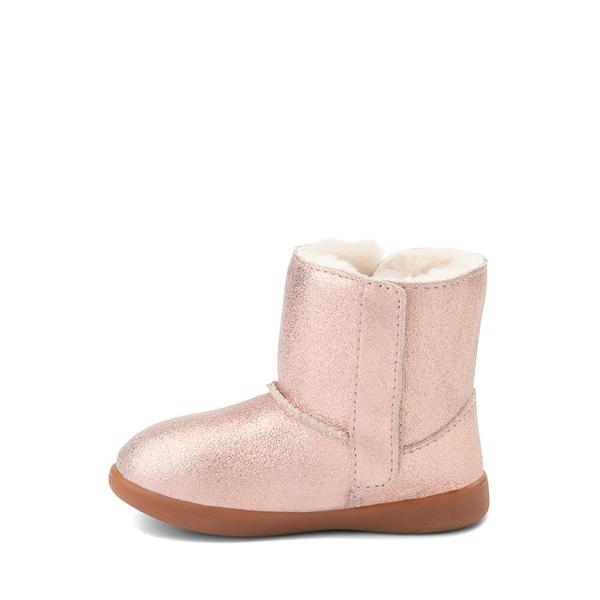 alternate view UGG® Keelan Glitter Boot - Baby / Toddler - Rose GoldALT1