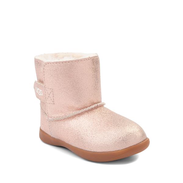 alternate view UGG® Keelan Glitter Boot - Baby / Toddler - Rose GoldALT5