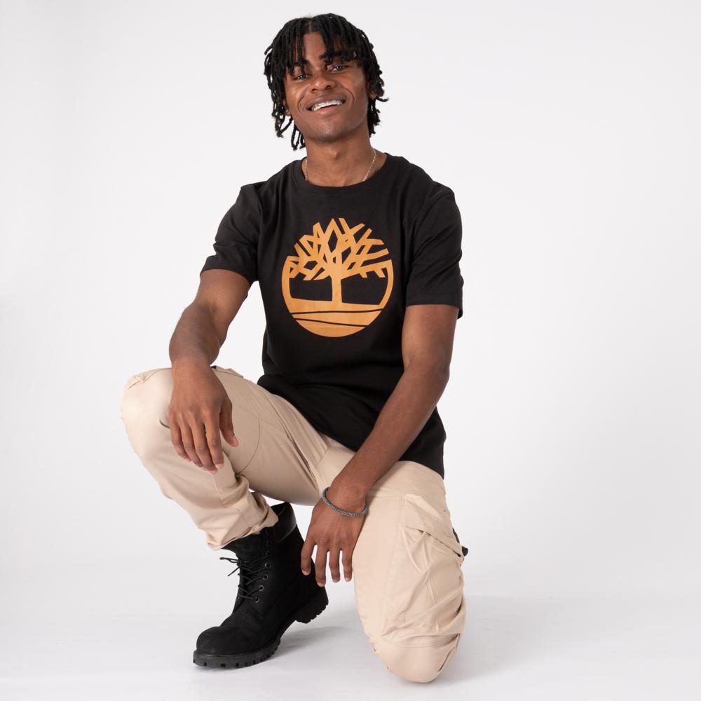 Mens Timberland Tree Logo Tee - Black