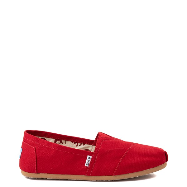 Main view of Mens TOMS Classic Slip On Casual Shoe - Red
