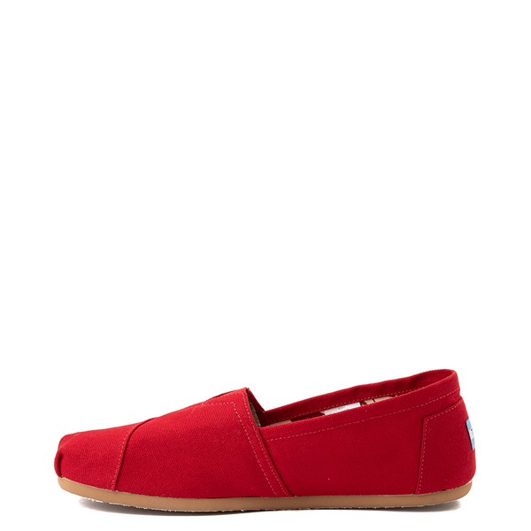 alternate view Mens TOMS Classic Slip On Casual Shoe - RedALT1